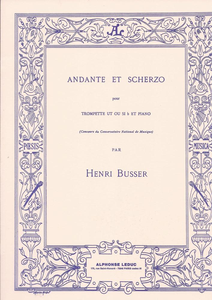 Henri Busser: Andante and Scherzo, Op. 44 (Trumpet and Piano)