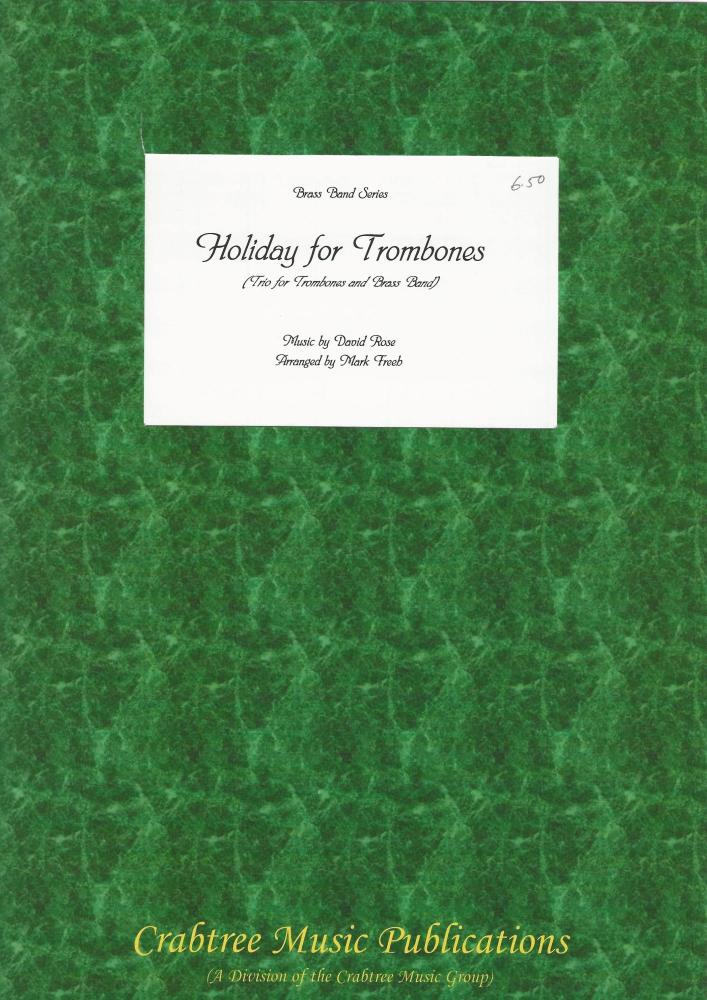Holiday for Trombones (Trio - Score Only) for Brass Band - David Rose, arr.