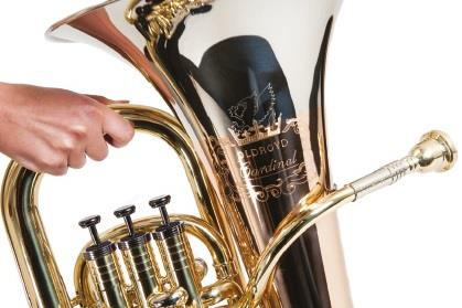 Oldroyd Cardinal Euphonium, Lacquer and Rose Brass