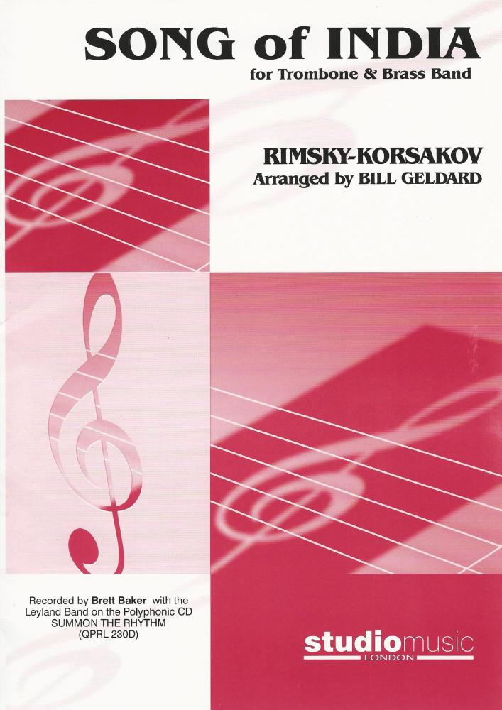 Song of India for Trombone and Brass Band - Rimsky-Korsakov, arr. Bill Geld