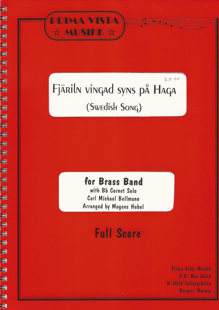 Swedish Song (Fjariln Vingad Syns Pa Haga) for Solo Cornet and Brass Band -