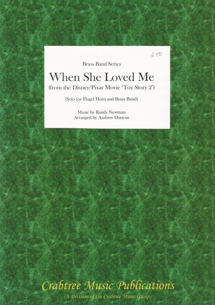 When She Loved Me (from Toy Story 2) for Flugel and Brass Band (Score Only)