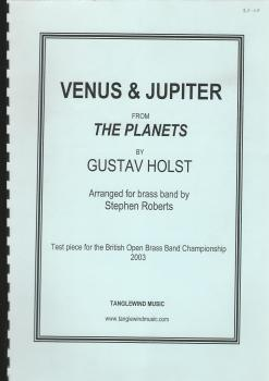Venus & Jupiter from the Planets for Brass Band (Score Only) - Gustav Holst, arr. Stephen Roberts