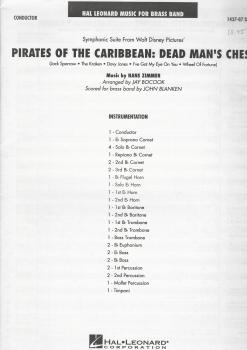Pirates of the Caribbean: Dead Man's Chest for Brass Band (Score Only) - Hans Zimmer, arr. Jay Bocook/John Blanken