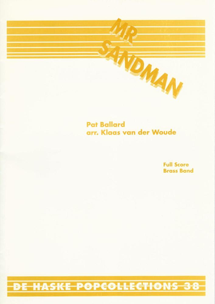 Mr Sandman for Brass Band (Score Only) - Pat Ballard, arr. Klaas van der Wo