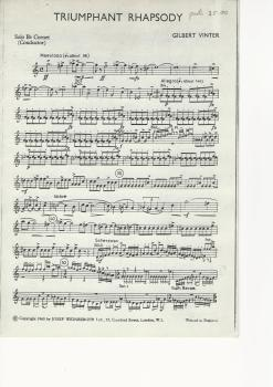 Triumphant Rhapsody for Brass Band (parts only) - Gilbert Vinter - NO SCORE