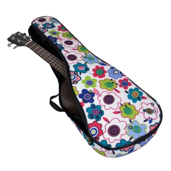 Tom & Will Concert Ukulele Gig Bag, 5mm Padding in Flowers