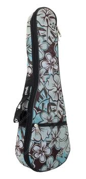 Octopus Soprano Ukulele Bag - Hibiscus Surf Pattern 5mm Padding