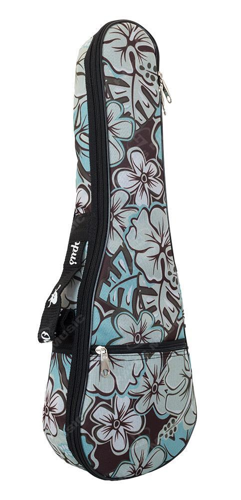 Soprano Ukulele Bag - Hibiscus Surf Pattern 5mm Padding
