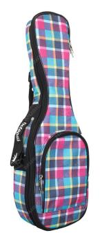 Octopus Soprano Ukulele Bag - Tartan Fusion Pattern 5mm Padding