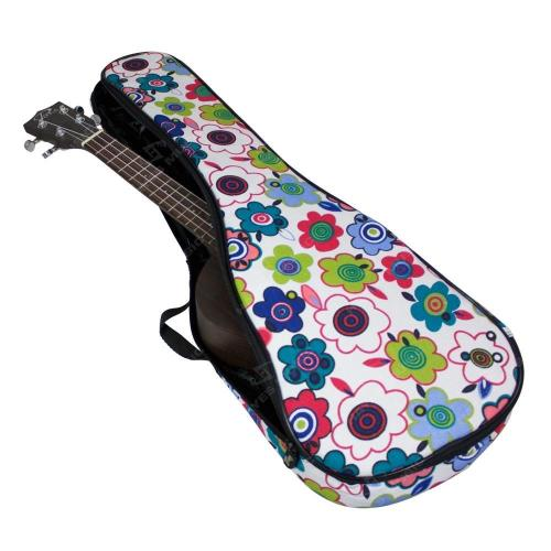 Tenor Ukulele Gig Bag, 5mm Padding in Flowers