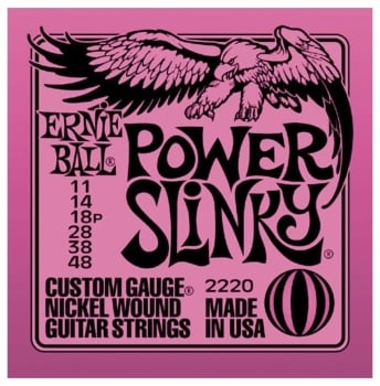 Ernie ball Guitar Strings Nickel Power Slinky Set 11-48