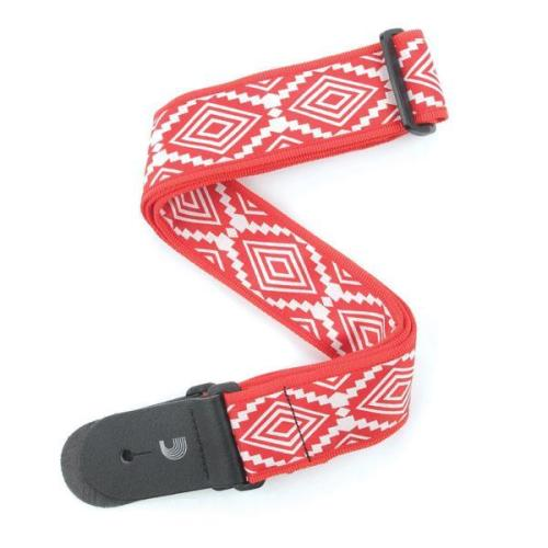 2 inch Jacquard Guatemalan Red Strap