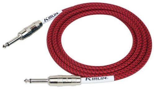 Fabric Guitar Lead 10' Straight Red