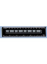 Black Keyboard Ruler 6""