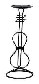 Candle Holder Violin Design 23cm
