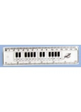 Clear Keyboard Ruler 6""