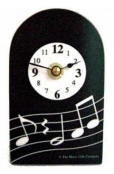 Mini Clock - Wavy Music