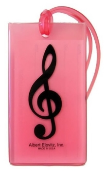Musical Instrument Identification Tag - Treble Clef