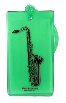 Musical Instrument Identification Tag - Saxophone