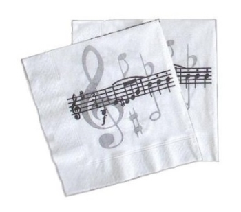 Napkins Music Notes