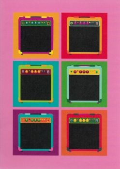 Pop Art: Amps - Greeting Card
