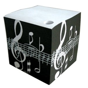 Telephone Cubes Black Music Notes