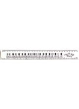 White Keyboard Ruler 12""
