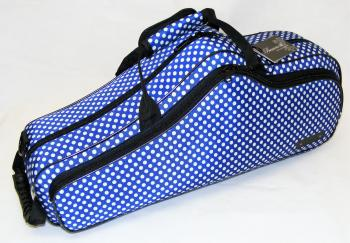 Beaumont Alto Saxophone Case - Blue Polka Dot