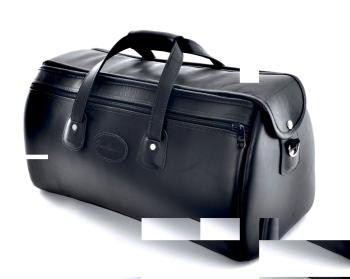Cronkhite Triple Trumpet Case in Smooth Black Leather