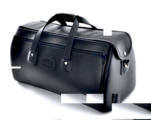 Cronkite Triple Trumpet Case in Smooth Black Leather