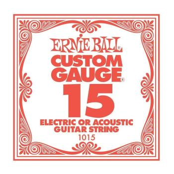 Ernie Ball .015 Plain Ball End Single String
