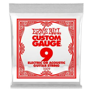 Ernie Ball .009 Plain Ball End Single String