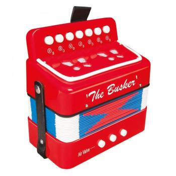 The Busker Mini Accordian - Red
