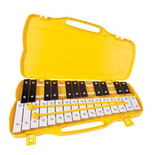 PP G5-A7 25 Note Glockenspiel, Black and White Keys