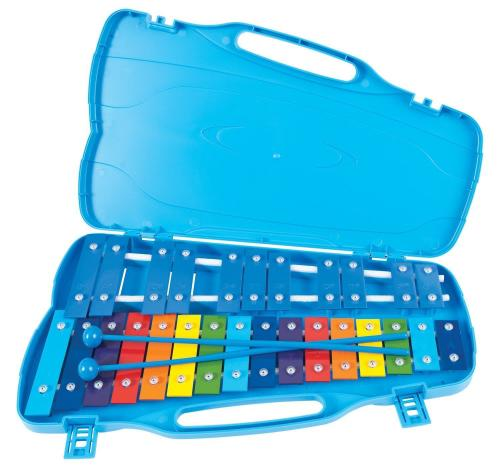 PP G5-A7 25 Note Glockenspiel, Coloured Keys