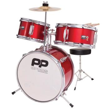 PP Junior 3-Piece Drum Kit - Red