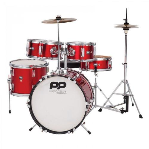 PP Junior 5-Piece Drum Kit - Red