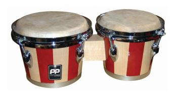 Two Tone Wood Bongos - Chrome Hardware