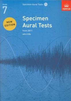 ABRSM Specimen Aural Tests - Grade 7 (2011+) Book/2 CDs