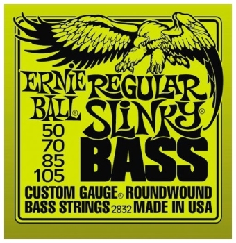 Ernie Ball Guitar Strings Nickel Bass Regular Slinky Set 50-105