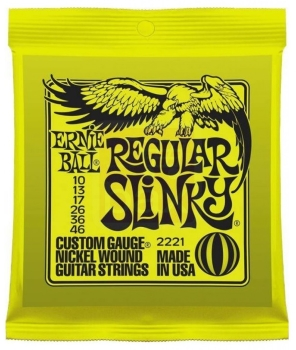 Ernie Ball Guitar Strings Nickel Regular Slinky Set 10-46