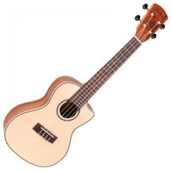 Vintage Laka Series Electro Acoustic Concert Ukulele - Solid Spruce/Koa Wood