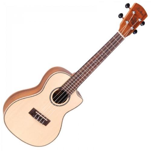 Vintage Laka Series Electro Acoustic Concert Ukulele - Solid Spruce/Koa Woo