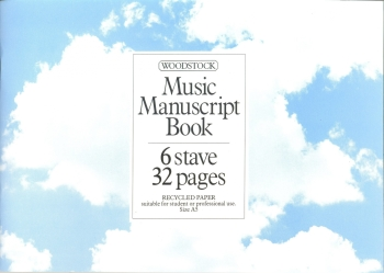 Music Manuscript Book 6 Stave 32 pages