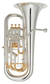 Yamaha Euphonium Custom Model, Tuning Slide Trigger, Silver Plate gold trim