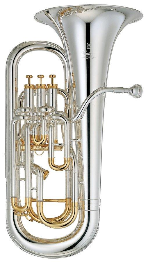 Yamaha YEP842S Euphonium Custom Model, silver plate gold trim