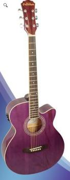Freshman Renegade Electro Acoustic Guitar Purple