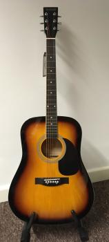Chicago Acoustic Dreadnought Sunburst Guitar Outfit