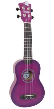 Soprano Ukulele Outfit in Purple Burst with Black Bag